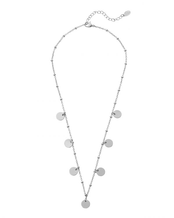 SC Only Circles Necklace Silver