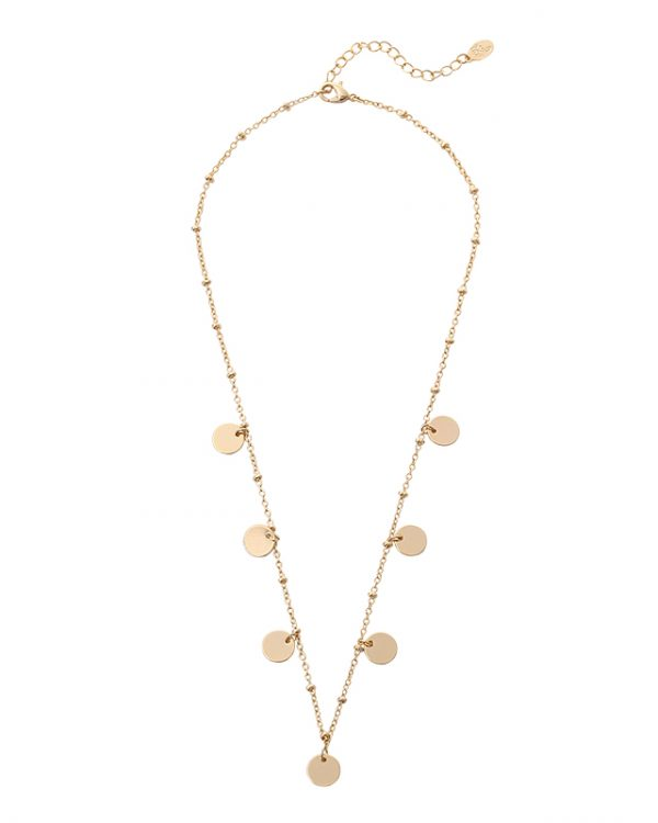 SC Only Circles Necklace Gold