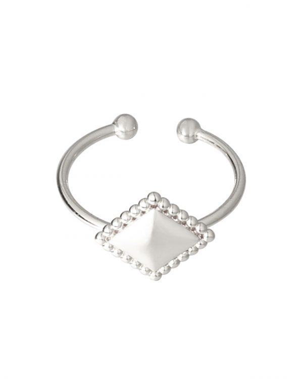 SC Diamond Medal Ring Silver