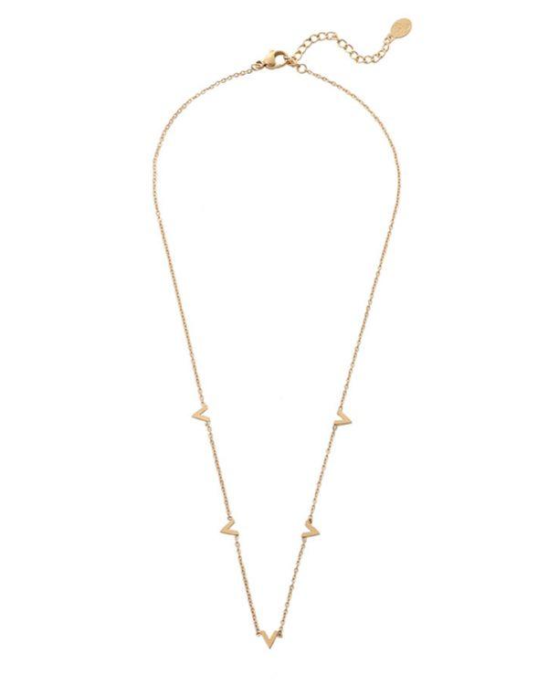 SC Only V Necklace Gold