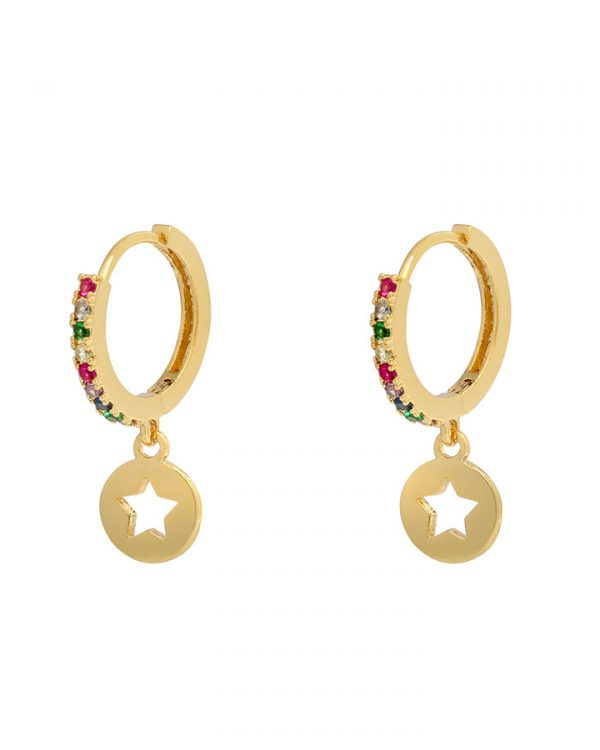 SC Shiny Star Earrings Multi