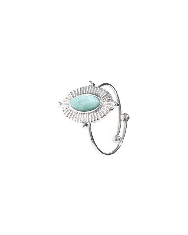 SC Lovely Blue Stone Ring Silver