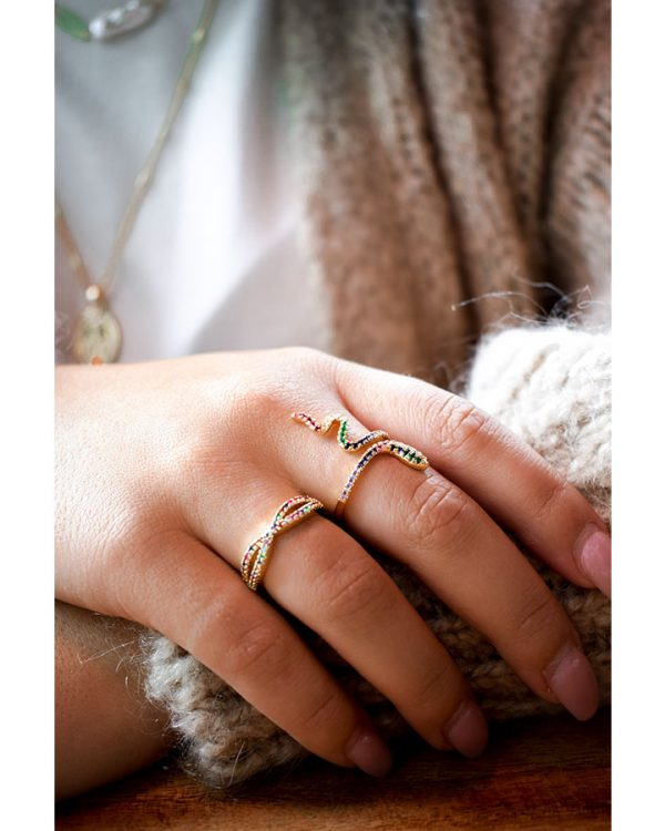 SC Multi Sparkle Ring Gold