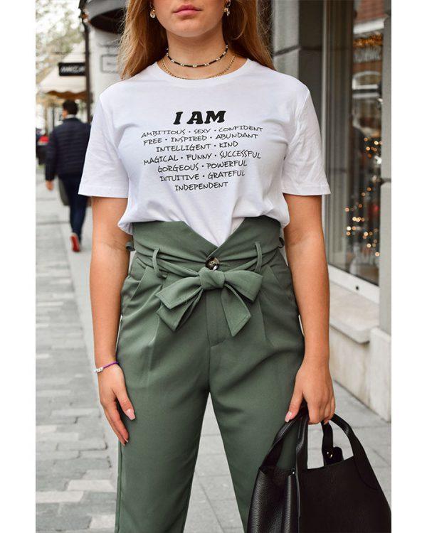 VN Label I AM Shirt White