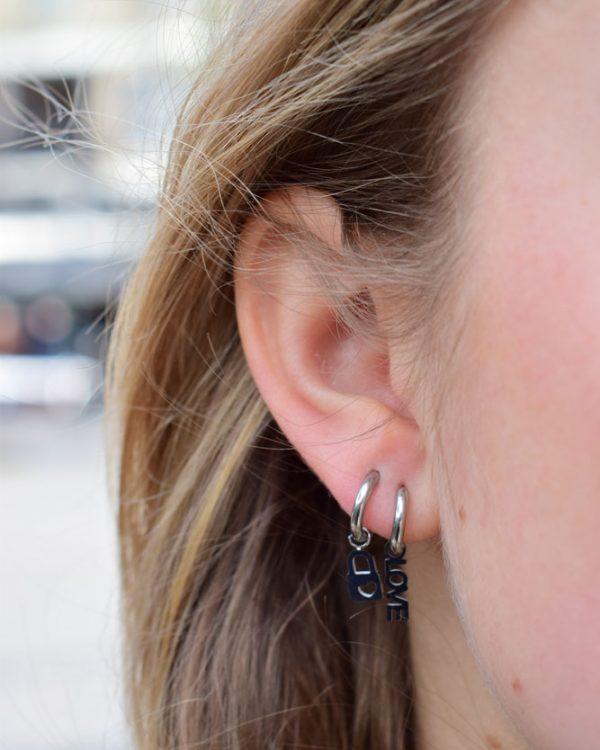 SC Earrings Love Silver