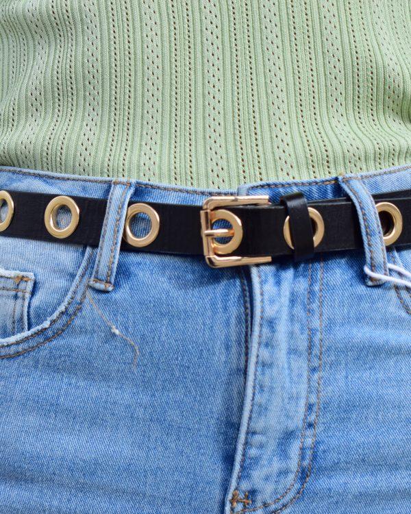 SC Eyelet Belt Gold