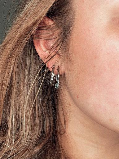 Sc Knot Earring Silver