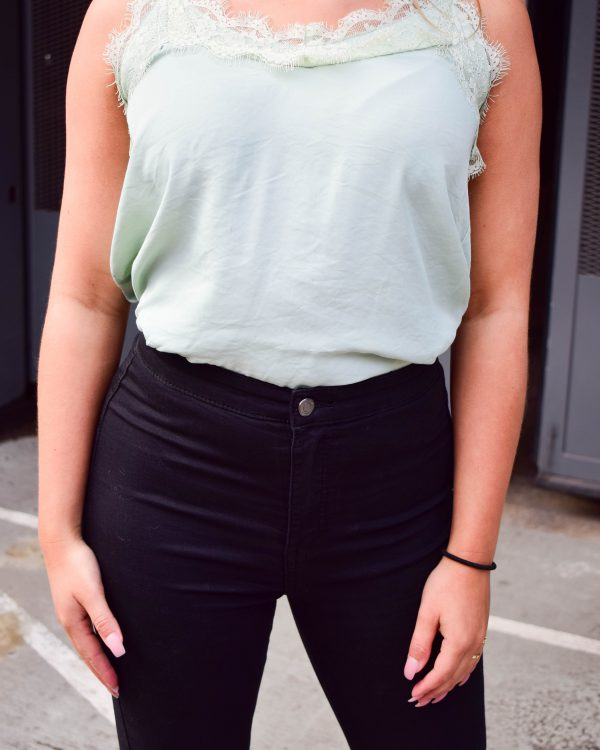 SC Lace Up Top Green