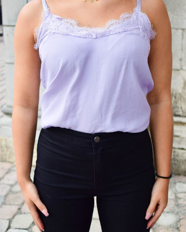 SC Lace Up Top Lila