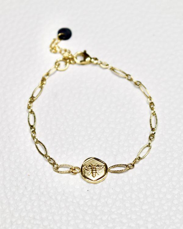 gouden armband met bij